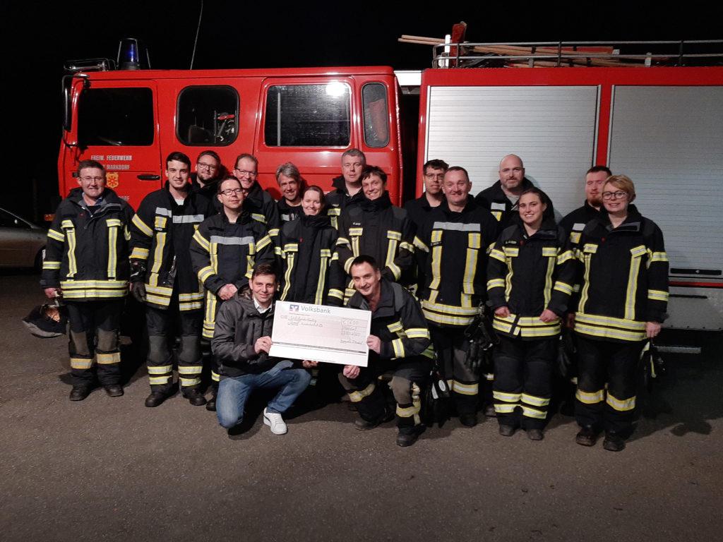 Abteilung Ittendorf übergibt Spendenscheck