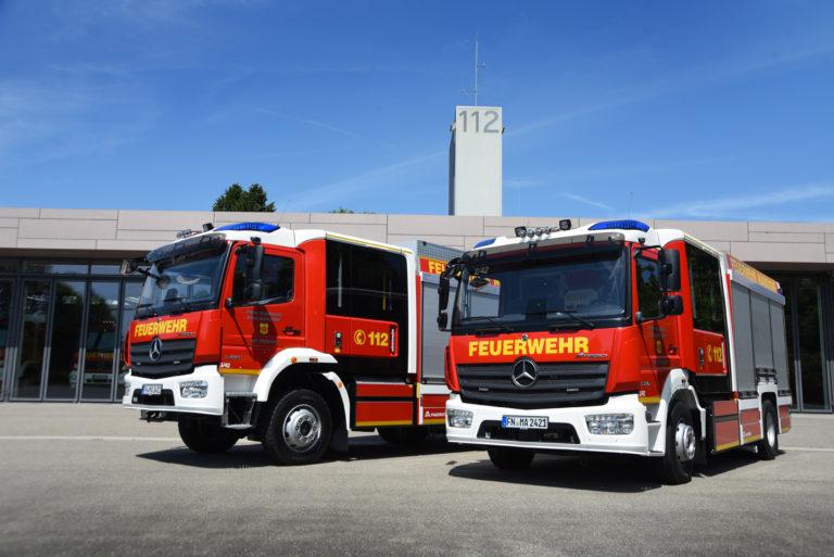 Read more about the article Zwei neue LF10 in Dienst gestellt